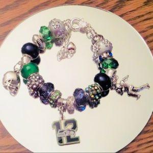 Jewelry - Seattle Seahawks Charm Bracelet